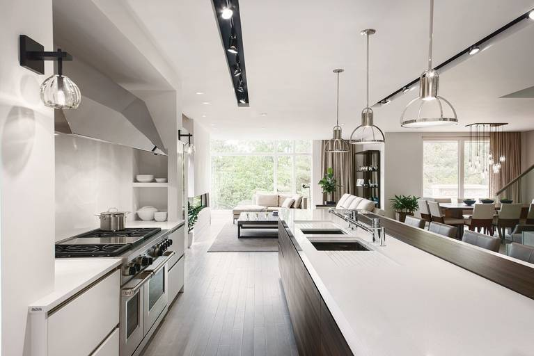 Versatile countertop materials available for kitchens from the SieMatic Classic style collection