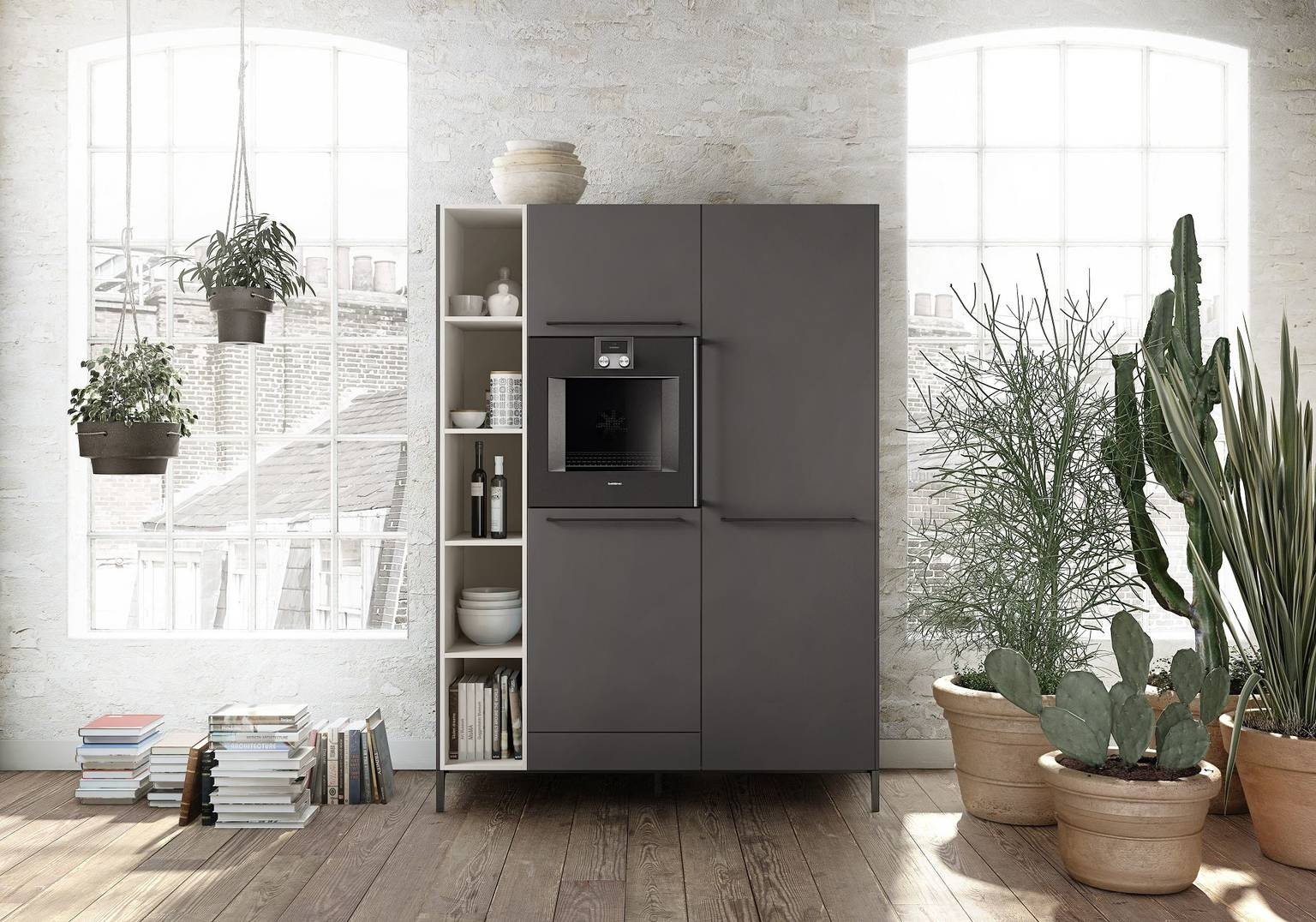 Tall cabinet ensemble with oven, fridge or dishwasher - a functional addition to the SieMatic 29