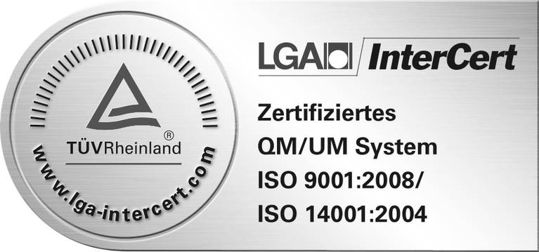 SieMatic is certified according to EN ISO 9001 and the ISO 14001 environmental management standard