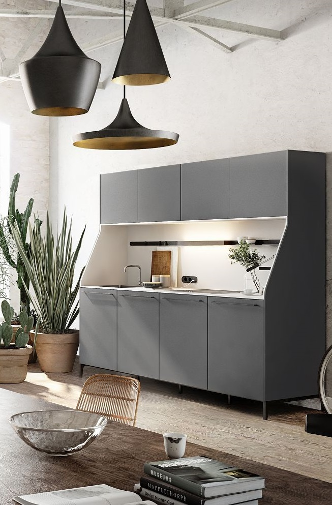 SieMatic 29 kitchen sideboard or buffet from the Urban style collection in  graphite grey with sink  SieMatic Kitchen Interior Design of Timeless Elegance. Siematic Kitchen Designs. Home Design Ideas