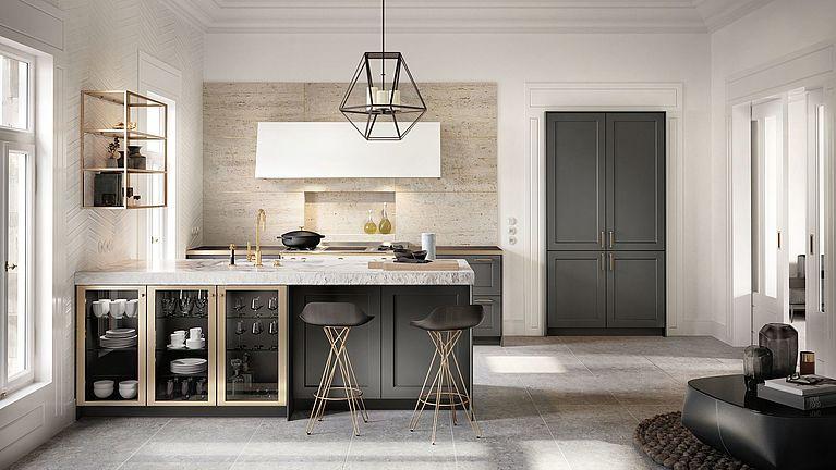 Die SieMatic CLASSIC-Kollektion bietet Optionen, die weit über das in der Küche übliche Design mit grenzenloser Gestaltungsfreiheit hinausgehen