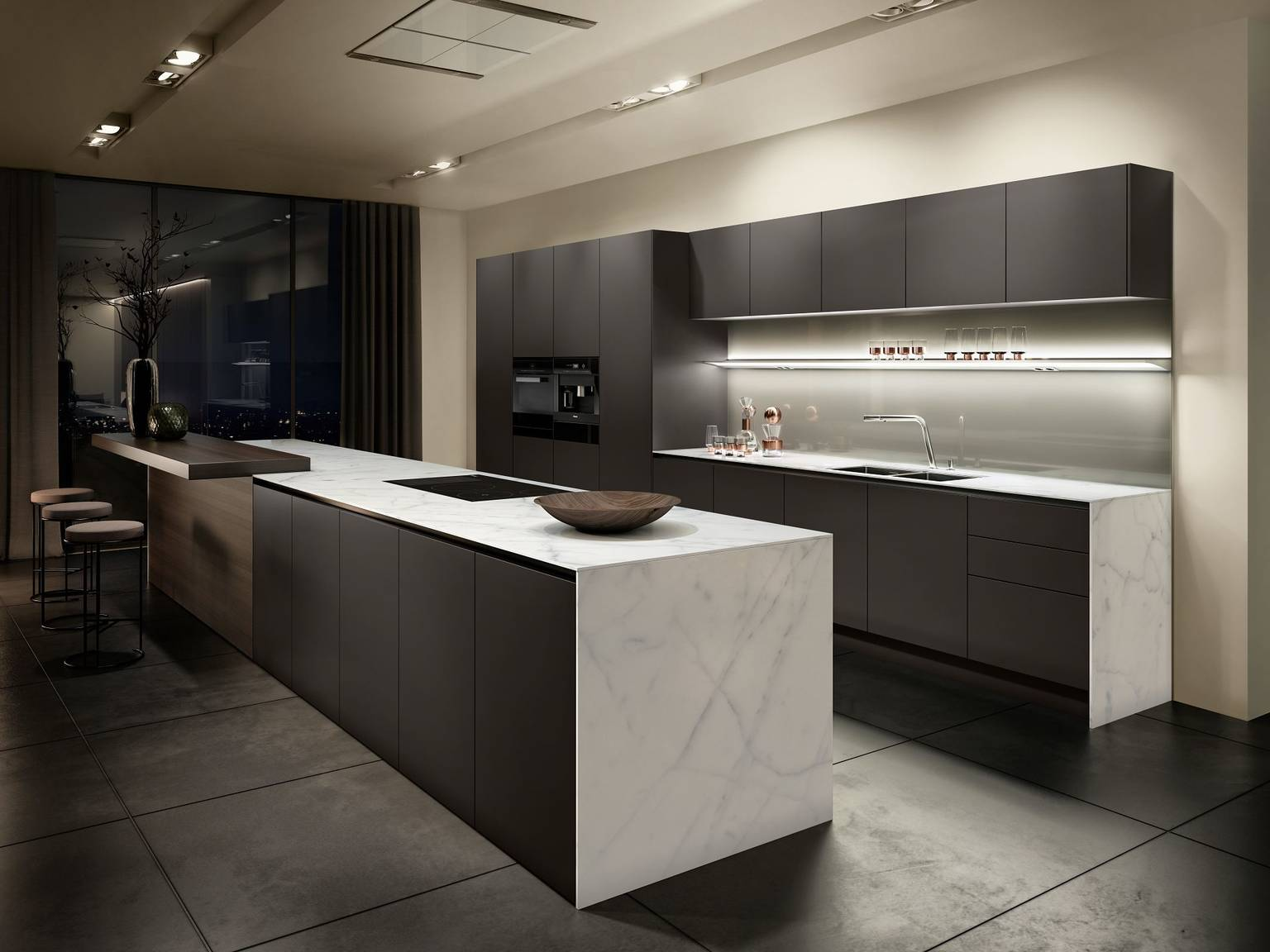 SieMatic Pure S2 SE kitchen in a brown tone from the SieMatic Individual ColorSystem