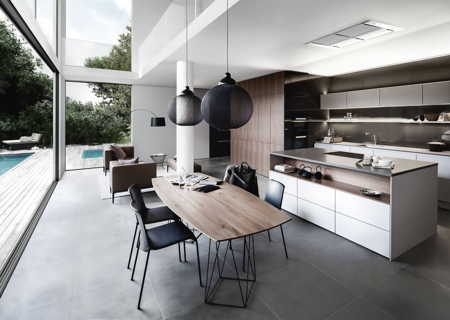 SieMatic Pure SE kitchen in sterling grey matte and graphite grey with island