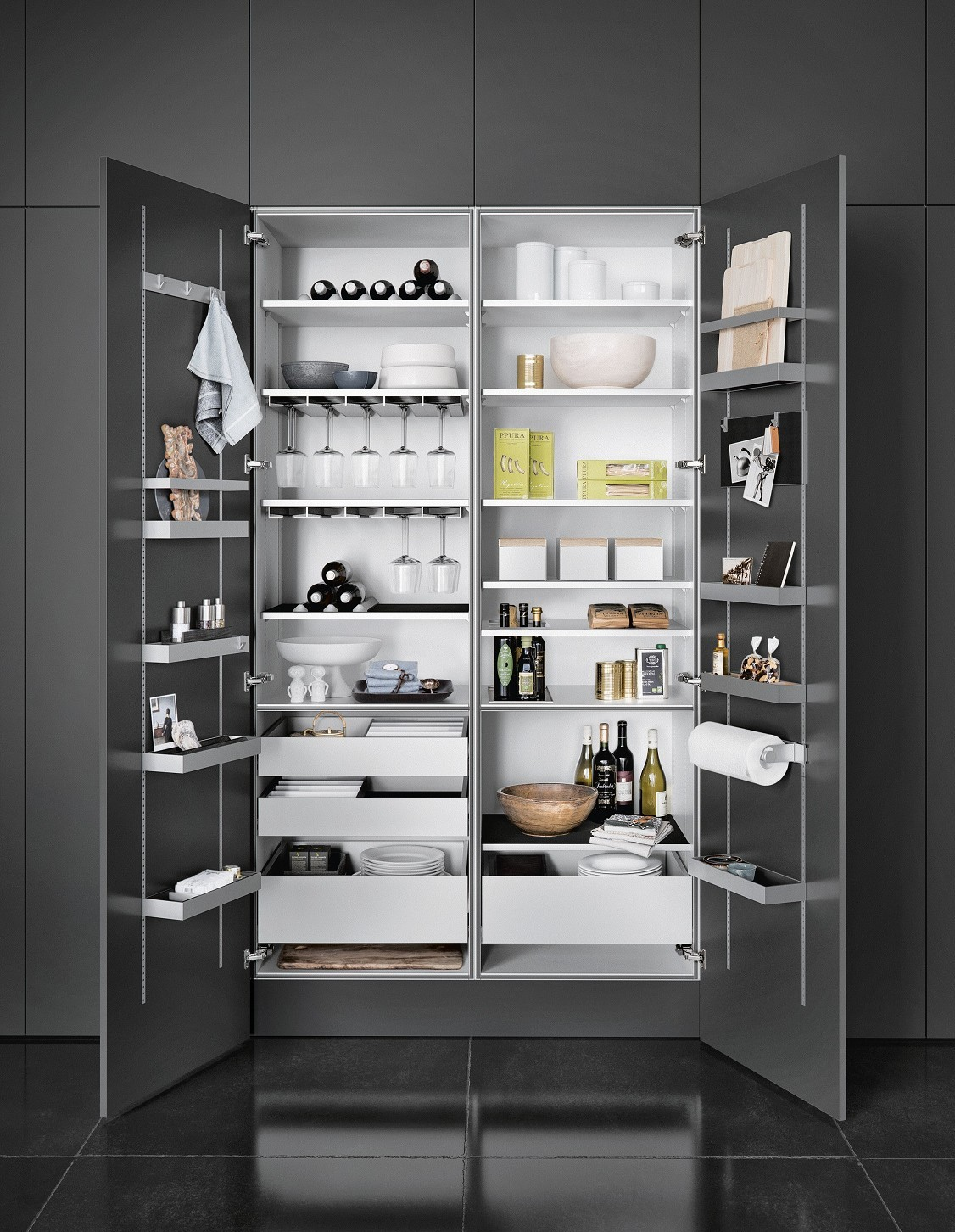 With Siematic Multimatic Interior Accessories Gain Up To 30 More Storage E In Tall