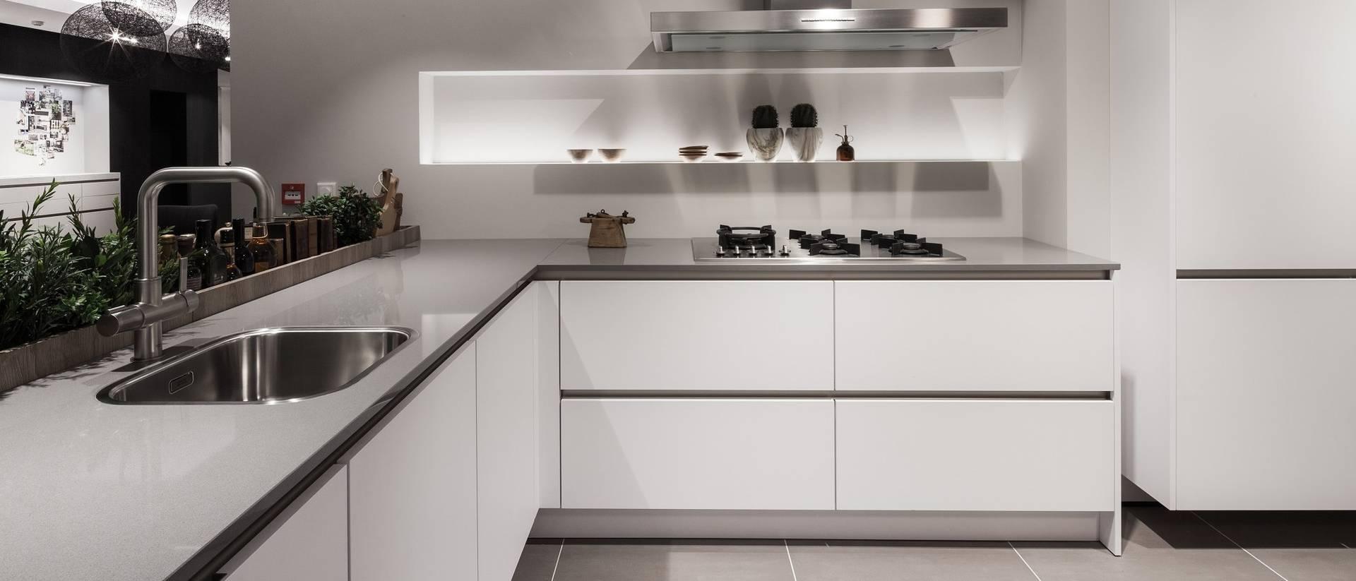 Les Showrooms SieMatic: Admirez ce qu'on appelle un design de cuisine à l'élégance intemporelle.