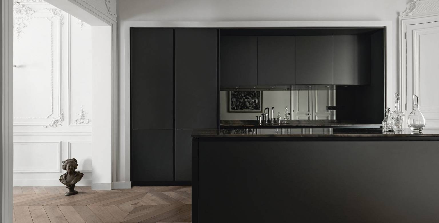 SieMatic Pure S2 in graphite grey matte lacquer with kitchen island