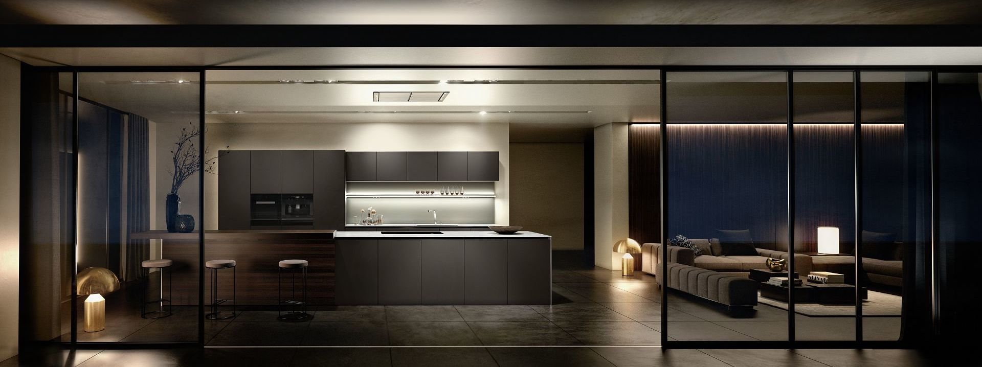 Diseño de primera línea, formas, proporciones y materiales de elegancia intemporal.