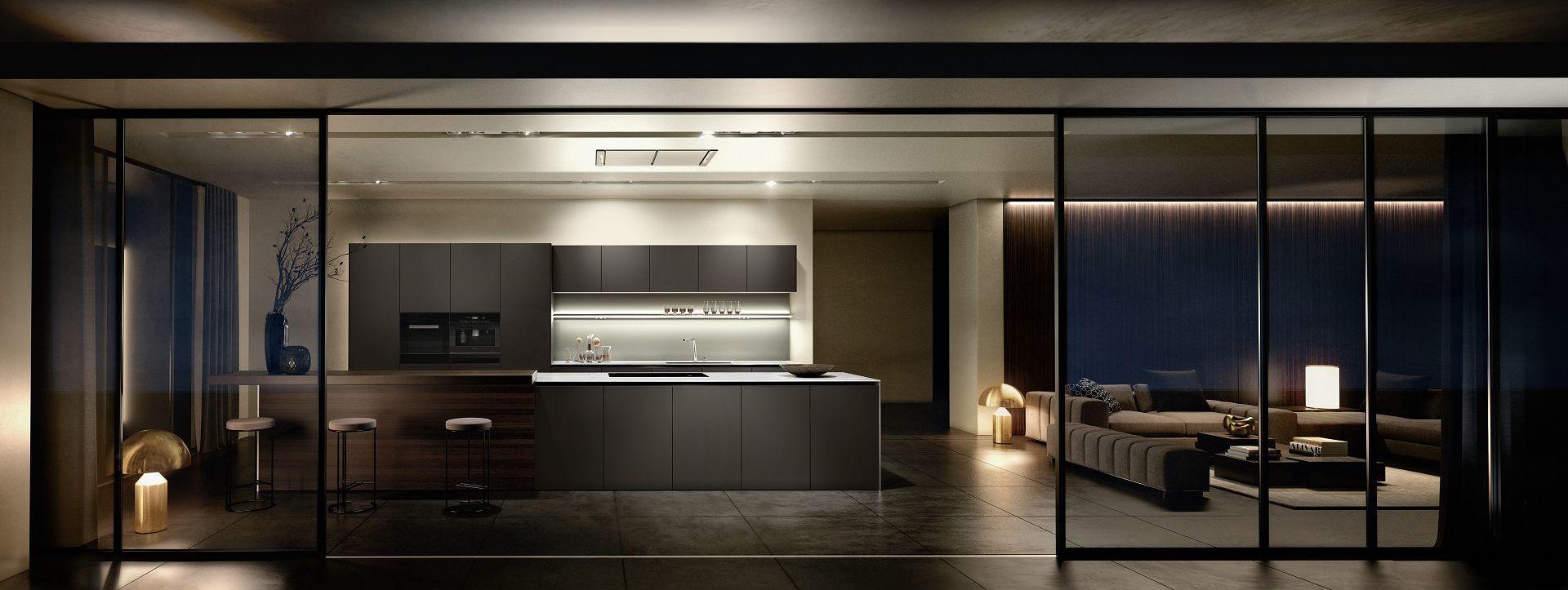 Eersteklas SieMatic keukenontwerp: keukenvormen, -proporties en -materialen van tijdloze deugdelijkheid.