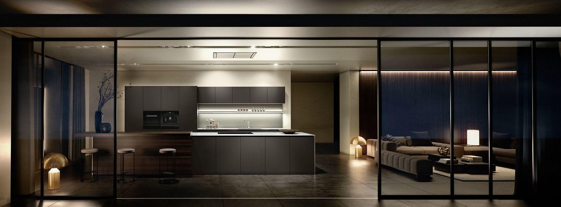 Erstklassiges SieMatic Küchendesign: Küchenformen, -proportionen und -materialien von zeitloser Gültigkeit.