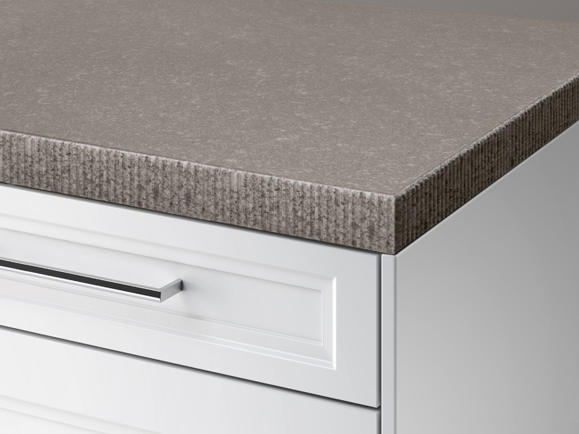 SieMatic StoneDesign kitchen countertop with chiseled edge