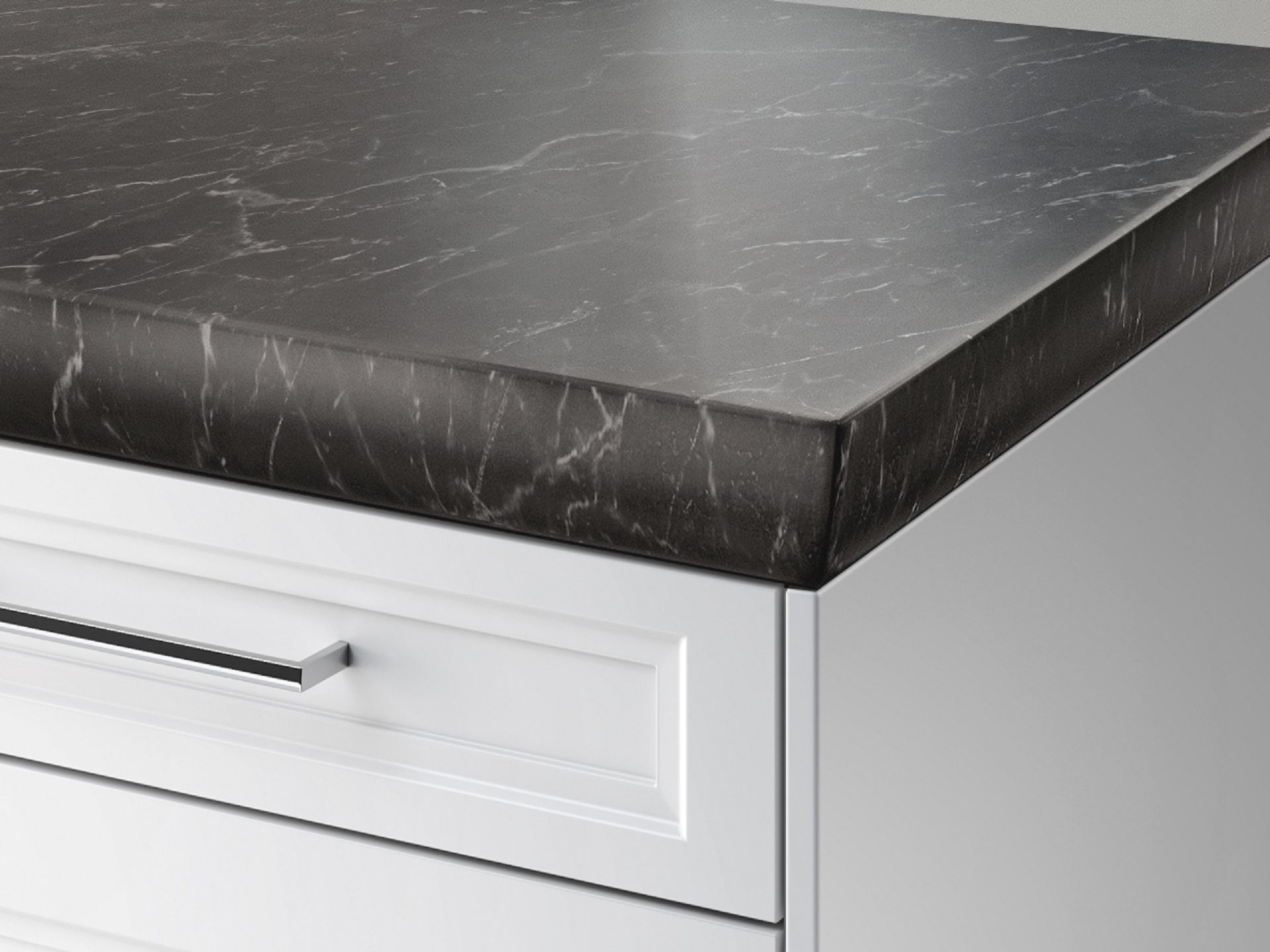 SieMatic StoneDesign kitchen countertop with elliptical edge
