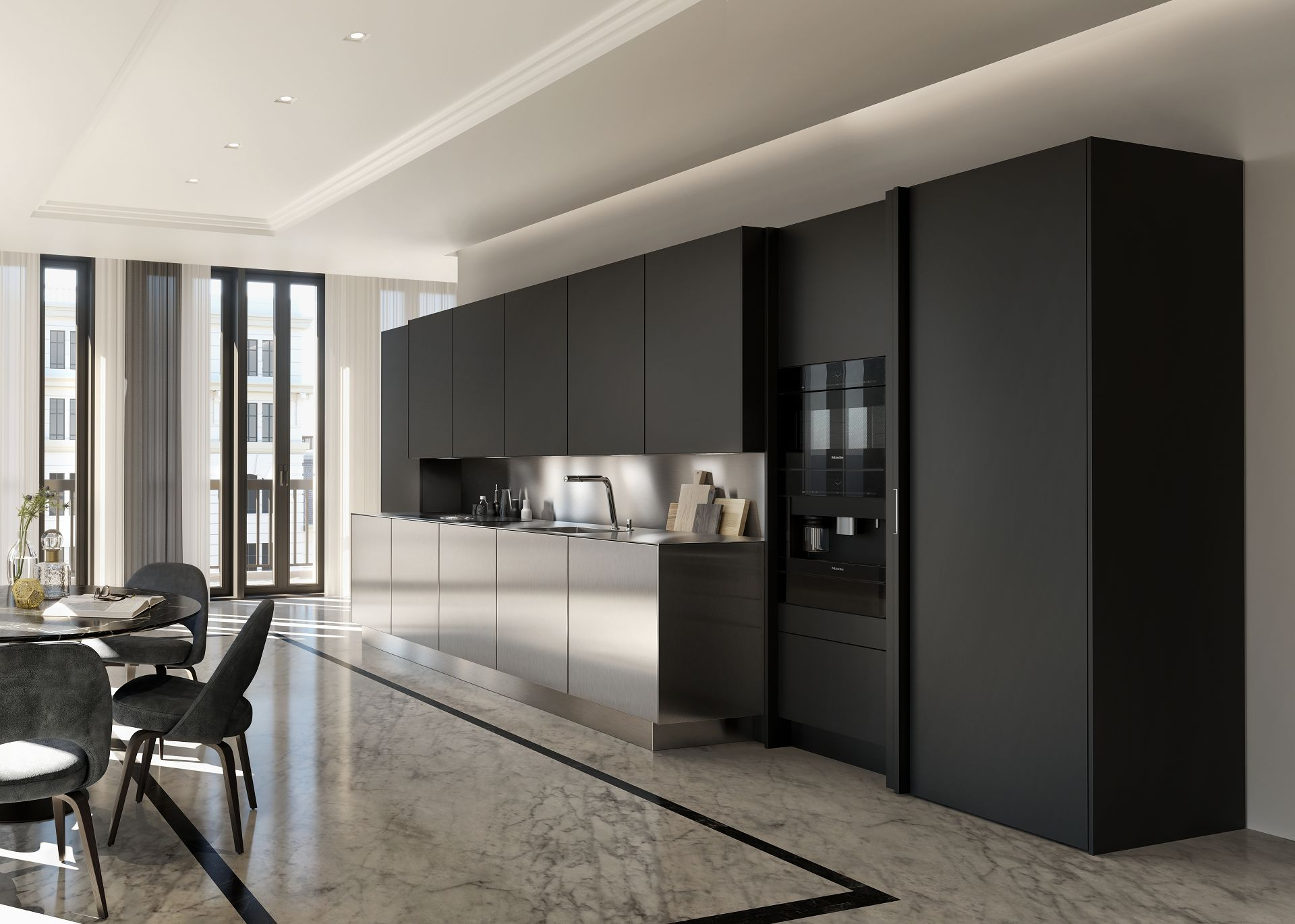 Stainless Steel: Great Kitchen Designs on a Smaller Scale