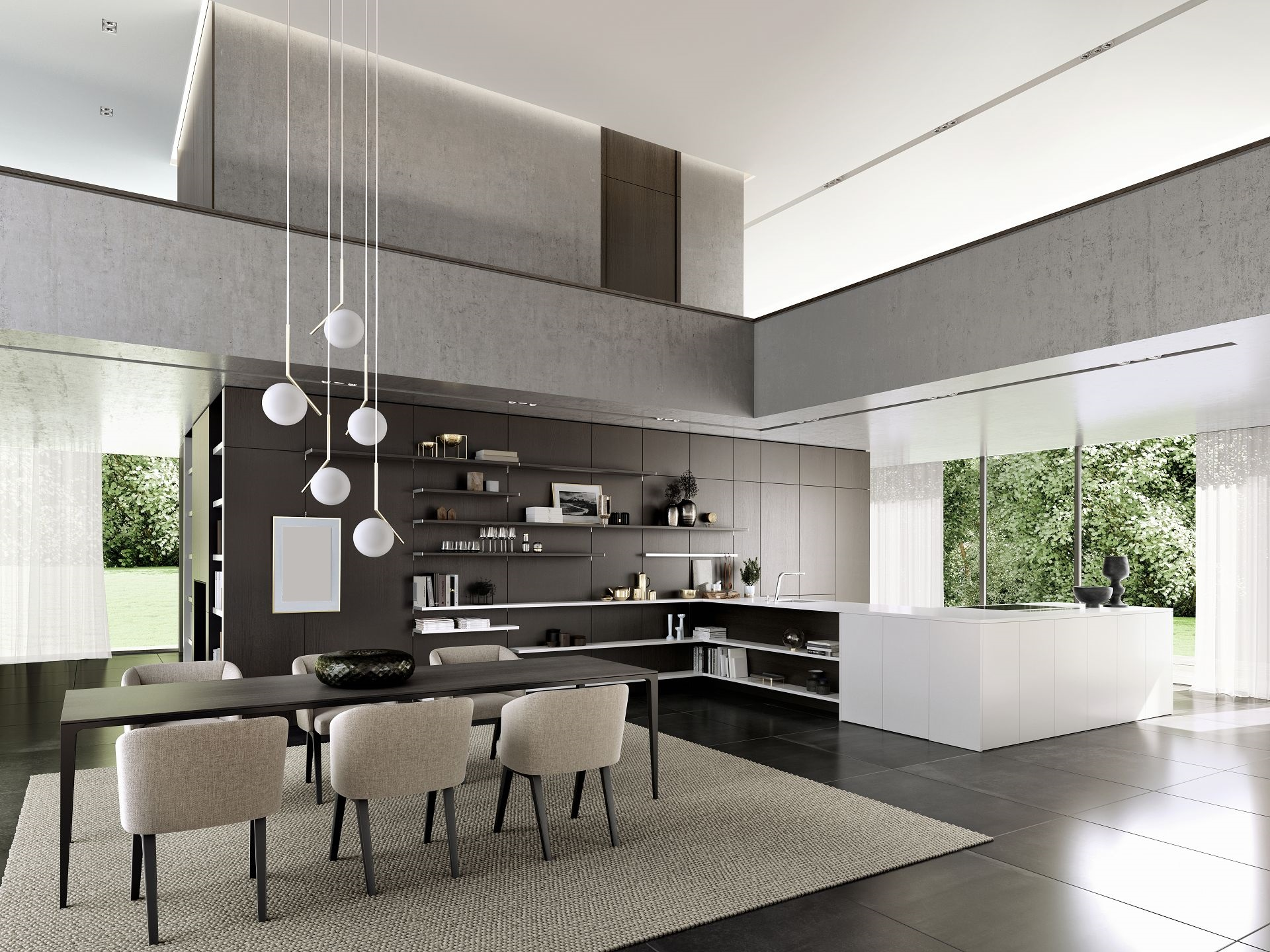 siematic floatingspaces cuisine s jour associ s avec. Black Bedroom Furniture Sets. Home Design Ideas