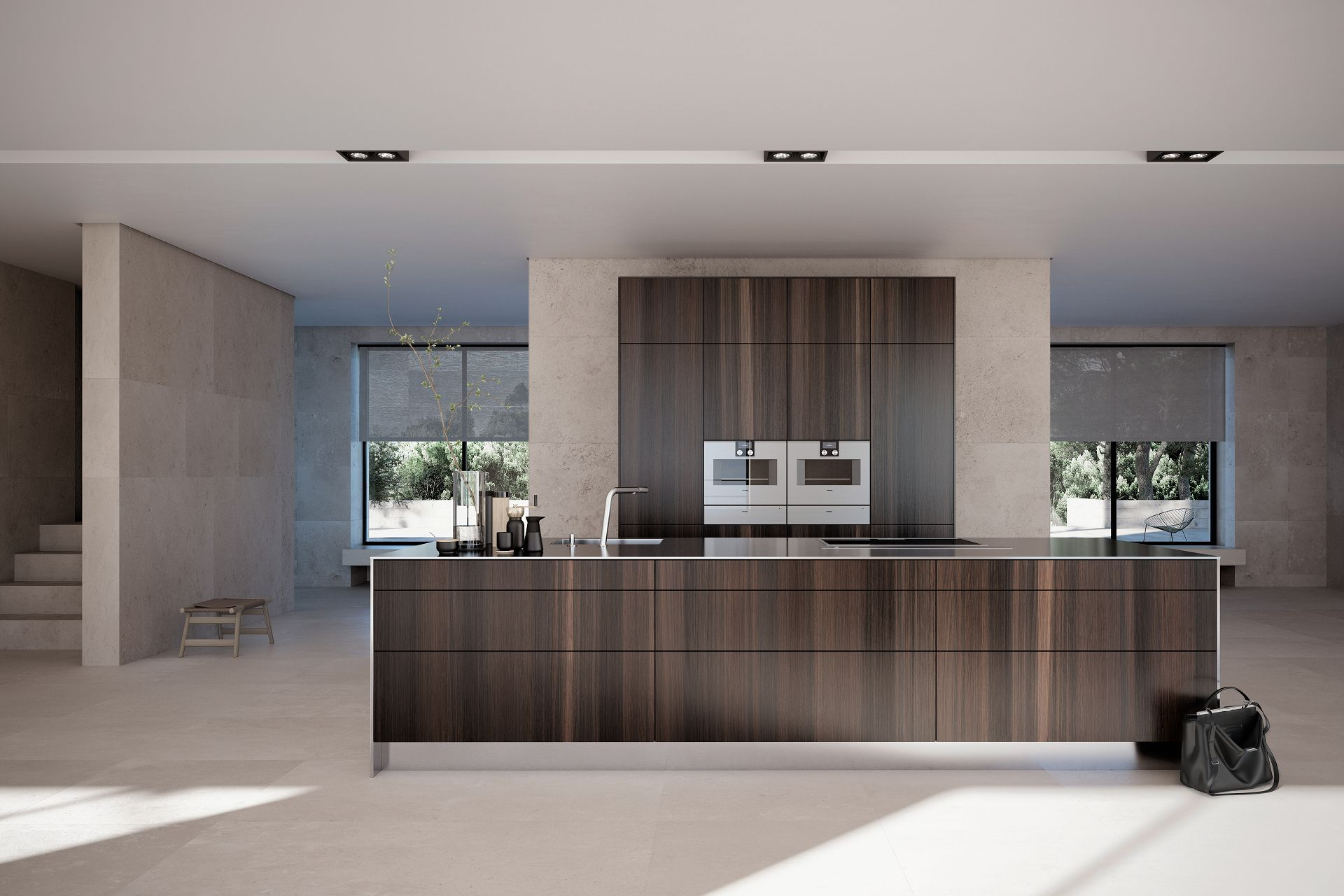 SieMatic Pure SE in smoked oak veneer with kitchen island