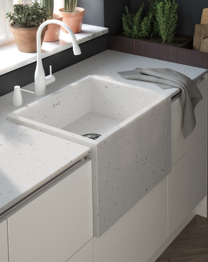 SieMatic Urban S2 SE in grey with large-volume sink and countertop in composite stone