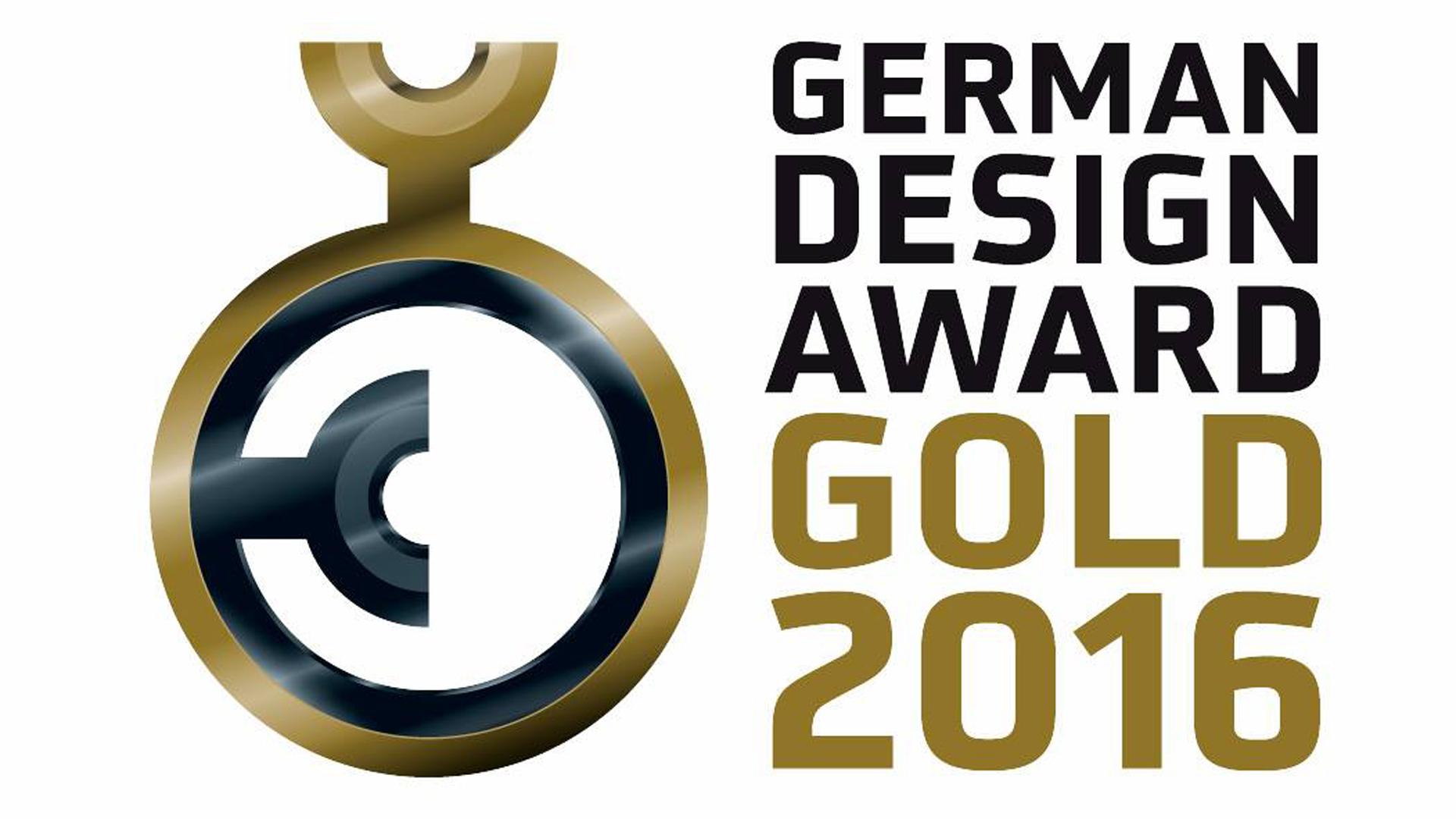 german design award in gold. Black Bedroom Furniture Sets. Home Design Ideas